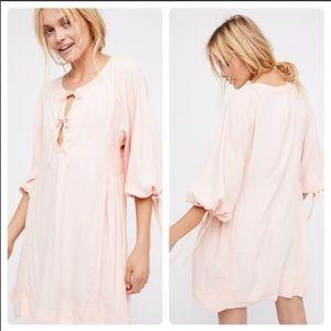 Free People Nomad Mini Dress- Peach